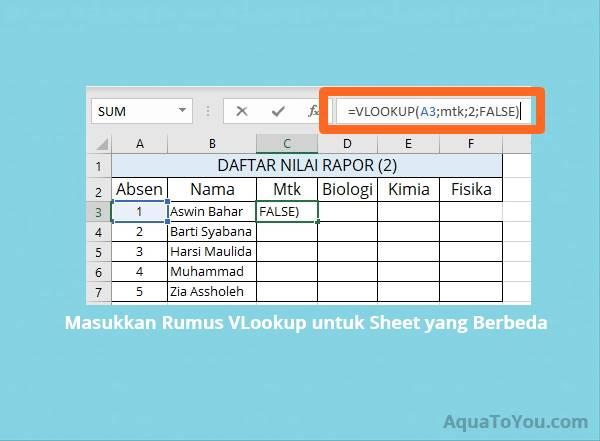 Cara Menggunakan Rumus VLookup Beda Sheet di Ms. Excel