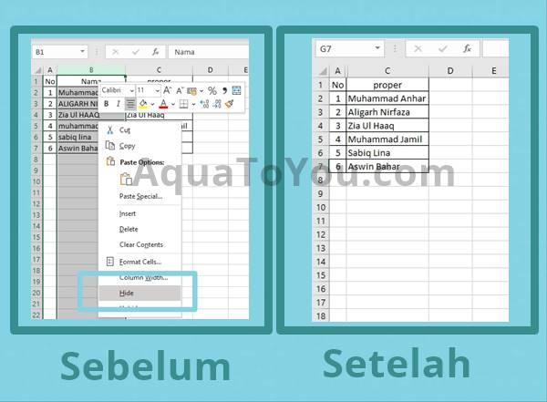 Cara Menyembunyikan Satu Kolom Yang Ada Di Ms. Excel Terbaru