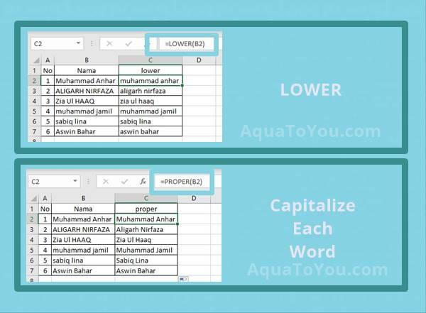 Cara Merubah Huruf Besar Menjadi Huruf Kecil Di Excel Dengan Mudah Menggunakan Lower Upper Dan Proper