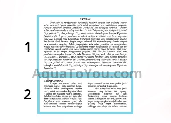 Contoh Penggunaan Section Break Untuk Memberikan 1 Dan 2 Kolom Di Satu Halaman