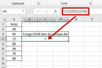 rumus Count Di Excel