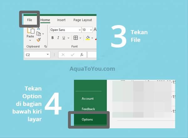 2 - Tekan menu File lalu pilih Option