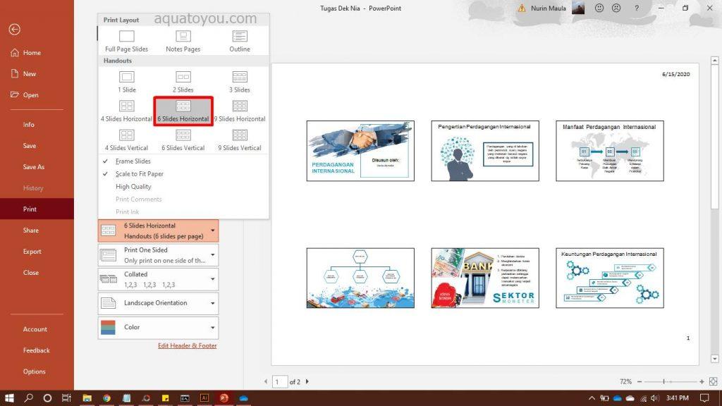 Print Ppt 6 Slides