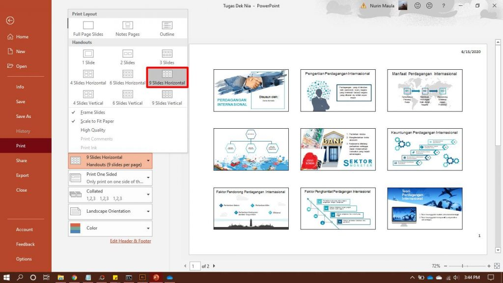 Print Ppt 9 Slides