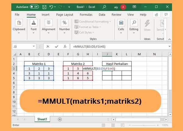Rumus Perkalian Matriks Di Excel Terbaru Untuk Versi 2010 2013 2016 Dan Office 365