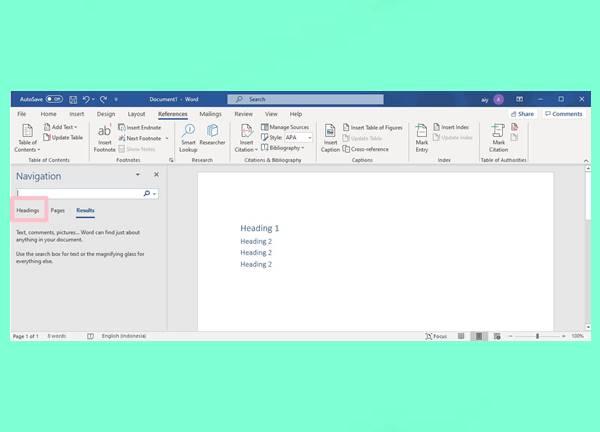 Tampilan Setelah Menekan Kombinasi Ctrl + F di Keyboard