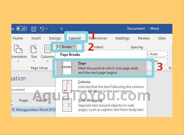 Tutorial Cara Menambah Halaman Di Word 2010 2013 2016 Office 365 Dengan Mudah