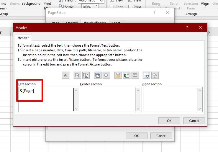 Menghapus Nomor Halaman Di Excel