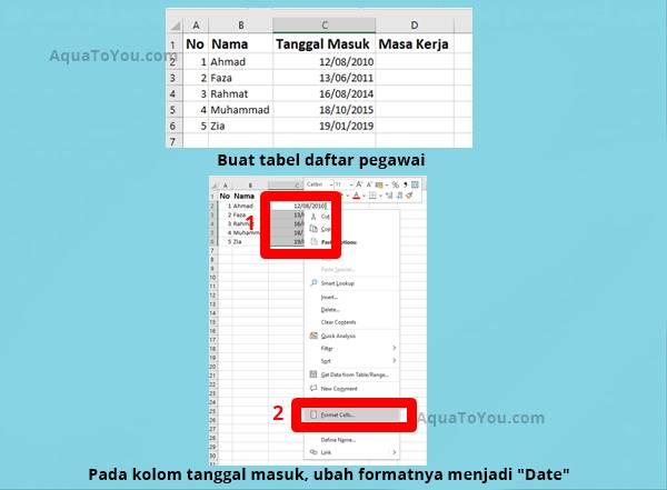 1 Membuat Tabel Dan Format Date