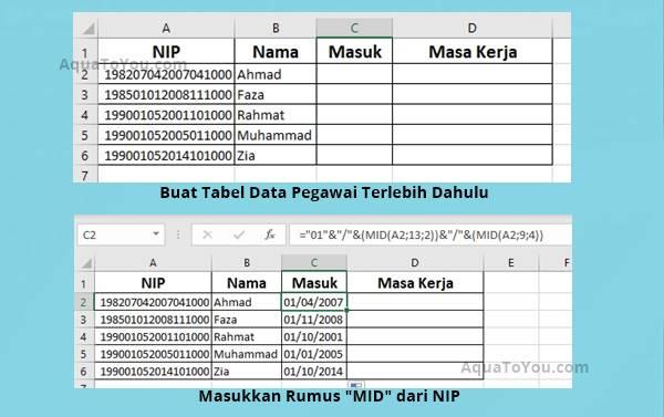 Cara Menghitung Masa Kerja Pns Atau Asn Menggunakan Microsoft Excel