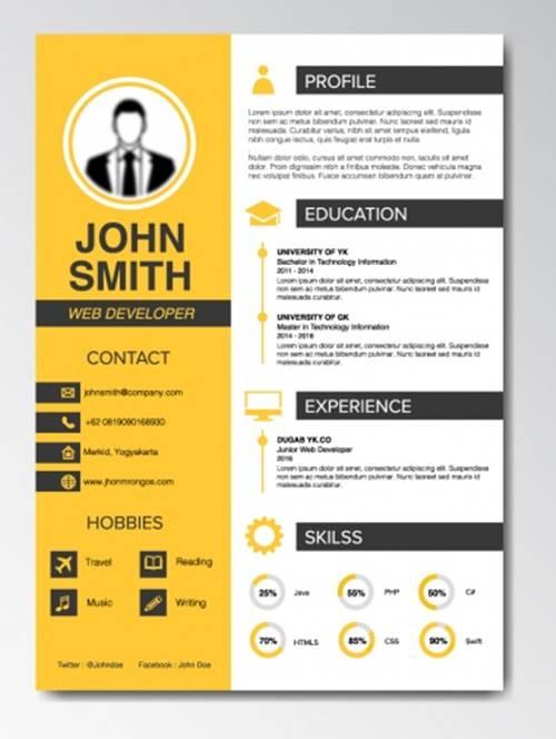 Contoh Cara Membuat CV di Word dengan Tema Cerah