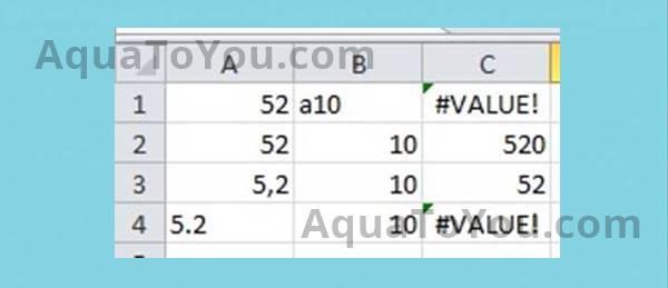 Contoh Error Value Pada Microsoft Excel