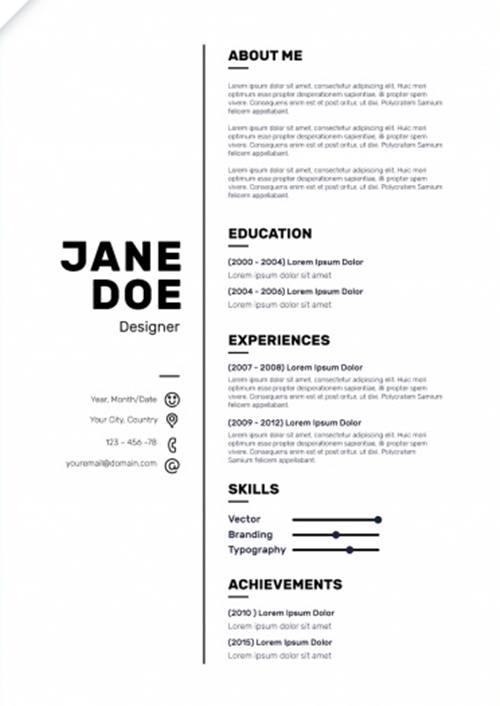 Download Template Cv Sederhana