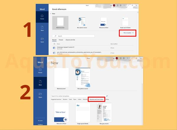 Tutorial Cara Membuat Cv Di Word 2010 2013 2016 Office 365