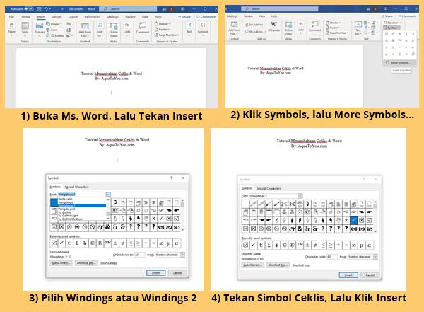 Tutorial Cara Menambahkan Tanda Ceklis Di Word Dengan Mudah