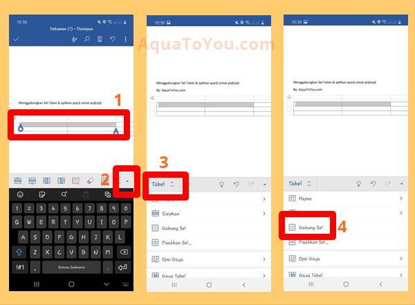 Tutorial Cara Menggabungkan 2 Kolom Menjadi 1 di Word Android