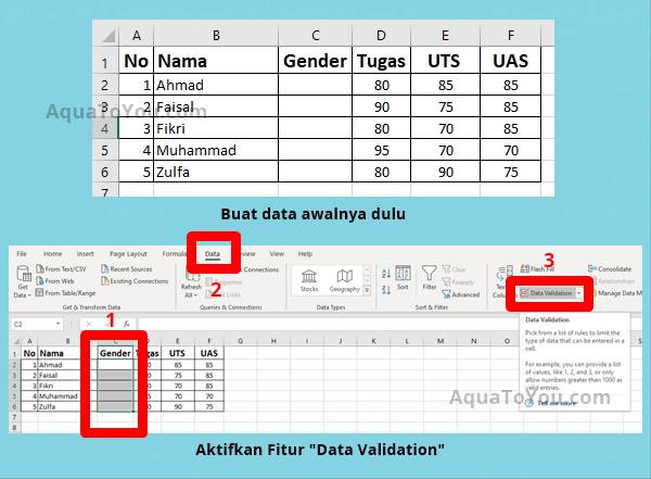 Tutorial Membuat Pilihan di Excel dengan Data Validation (1)