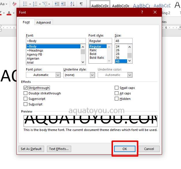 Tutorial Strikethrough Di Microsoft Word